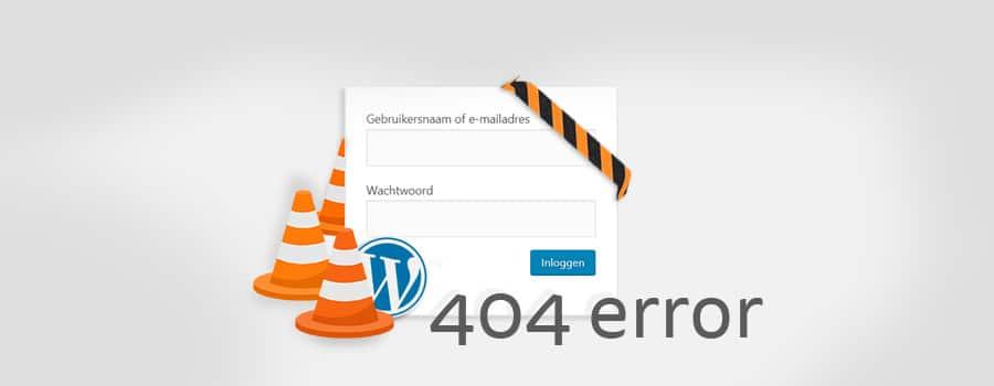 wordpress admin niet bereikbaar