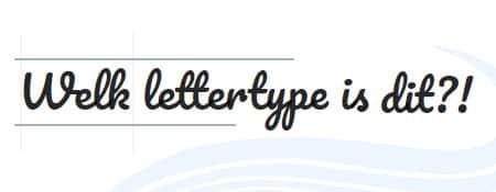 Welk lettertype is dit?!