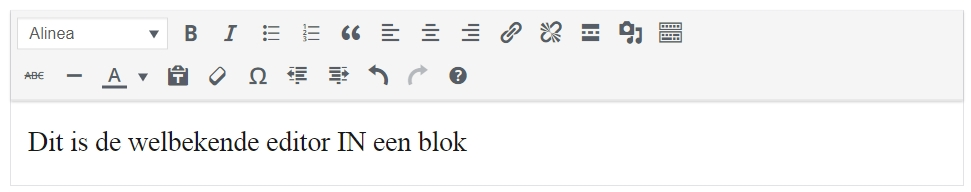 editor in een blok