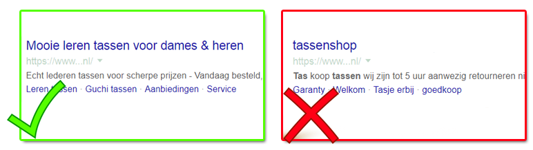google webshop goed fout