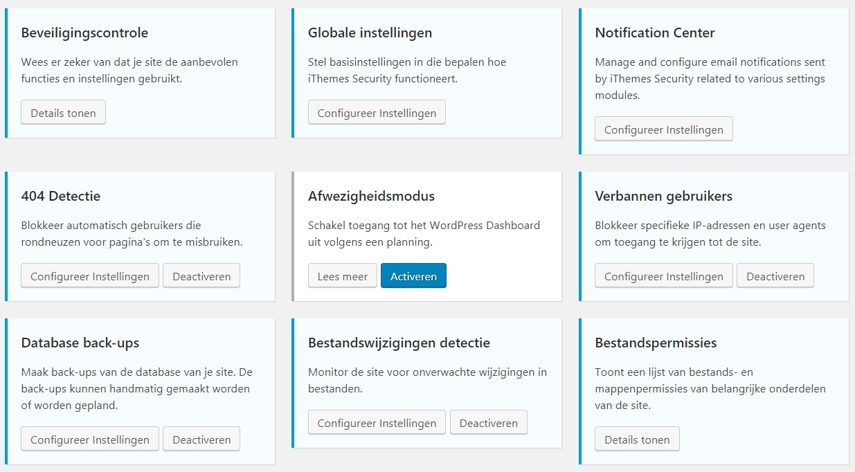 blokken ithemes security