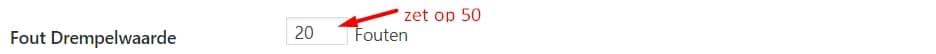 drempelwaarde 404 monitoring