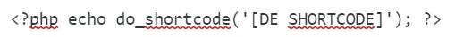 voorbeeld shortcode