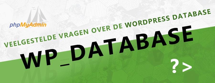 vragen over de wordpress database