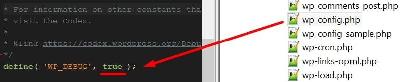 debug modus uitzetten wordpress